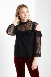 Soprano Black Cold-Shoulder Blouse - Product Mini Image