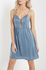 Soprano Blue Silky Dress - Product Mini Image