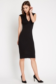 Soprano Fitted Black Dress - Product Mini Image