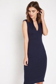 Soprano Fitted Navy Dress - Product Mini Image