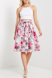 Soprano Floral Midi Skirt - Front full body