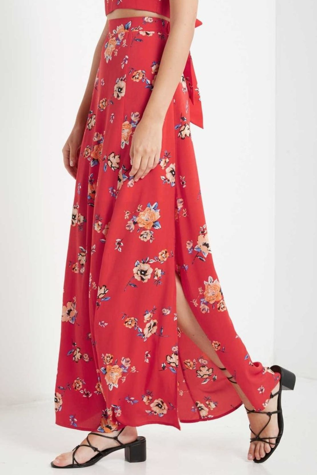 Soprano High-Waisted Maxi Skirt - Side Cropped Image