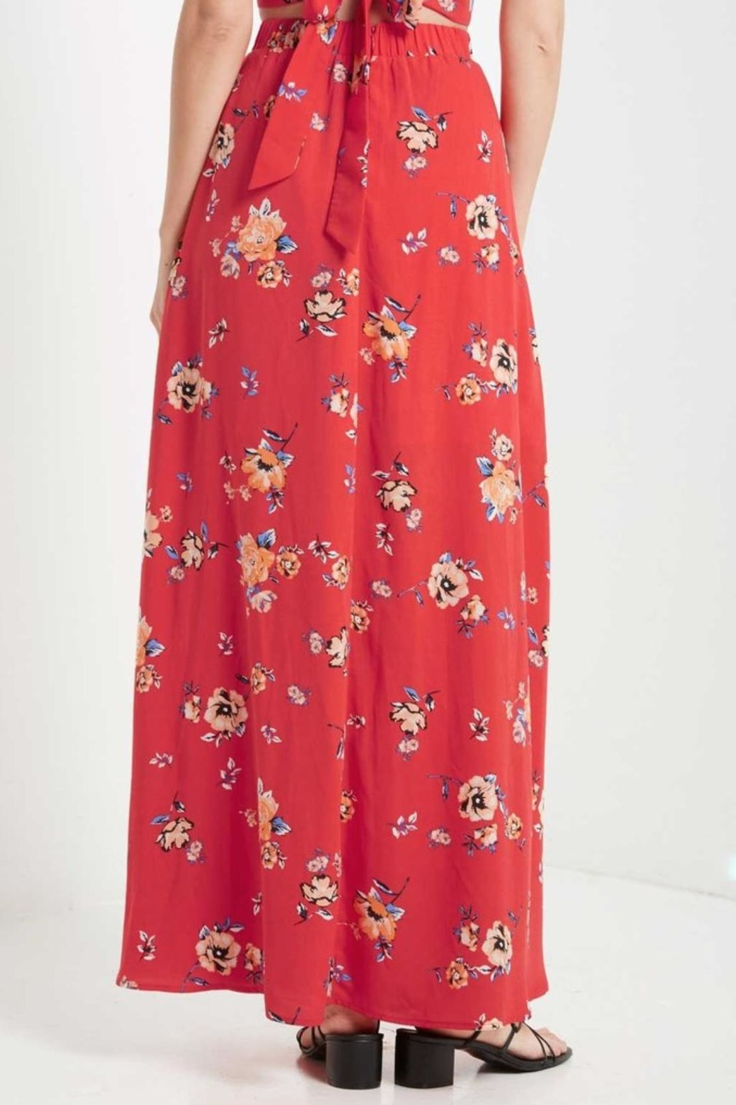 Soprano High-Waisted Maxi Skirt - Front Full Image