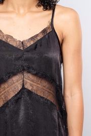 Soprano Lace Inset Satin Cami - Back cropped