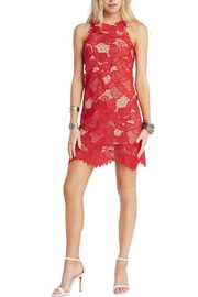 Soprano Red Lace Overlay Dress - Product Mini Image