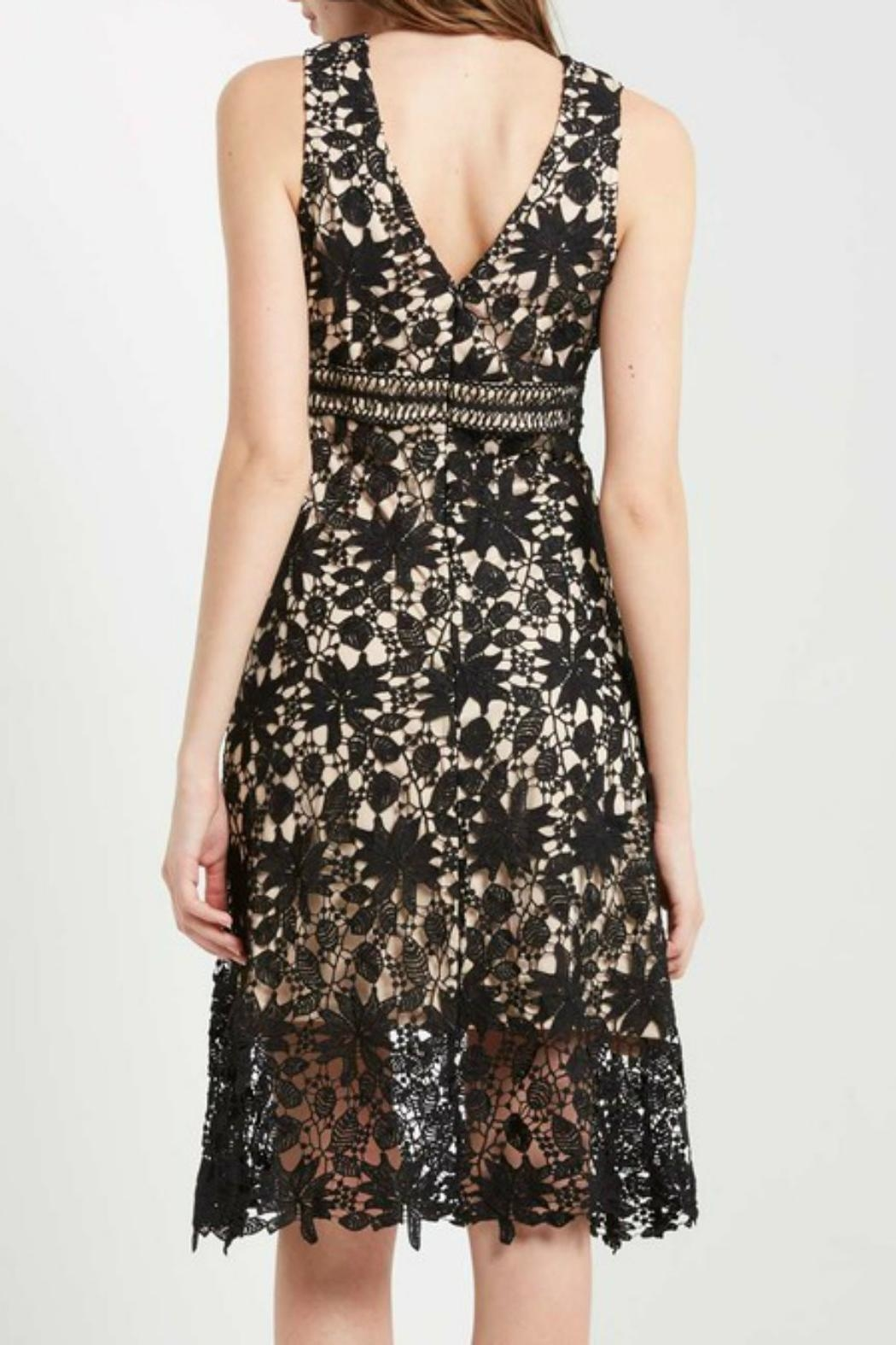 Soprano Lace Overlay Dress - Front Full Image