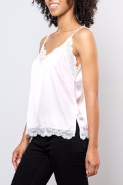 Soprano Lace Trim Satin Cami - Front full body