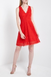 Soprano Lady In Red-Lace - Front full body