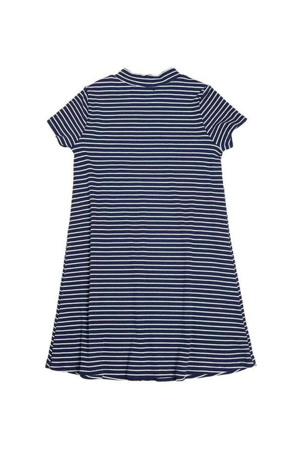 Soprano Navy Striped Dress - Side Cropped Image
