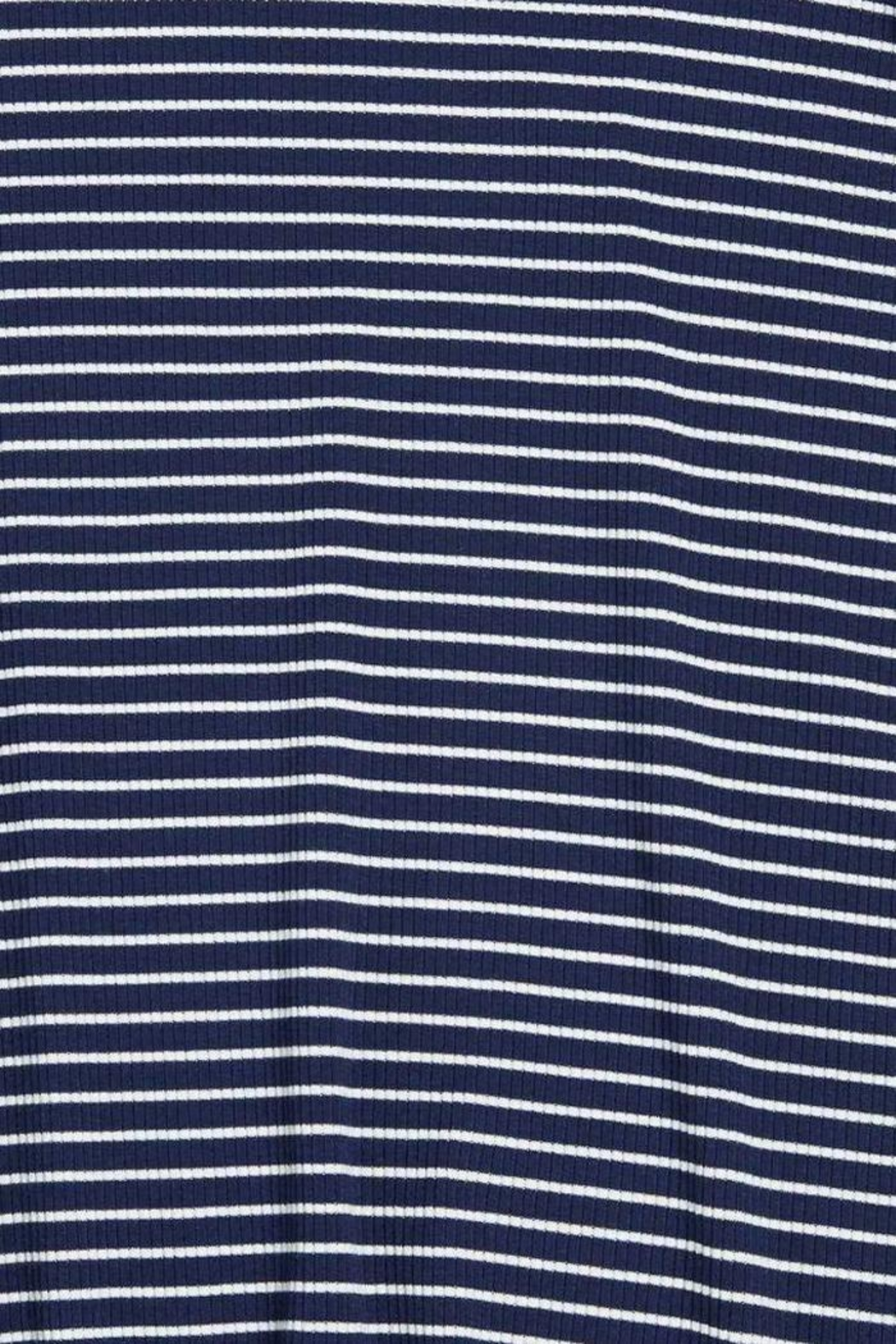 Soprano Navy Striped Dress - Back Cropped Image