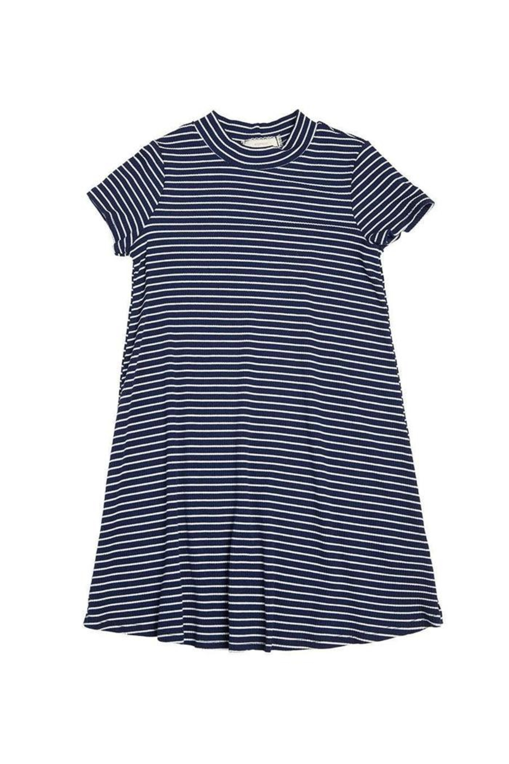 Soprano Navy Striped Dress - Front Cropped Image