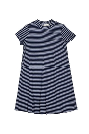 Soprano Navy Striped Dress - Front cropped