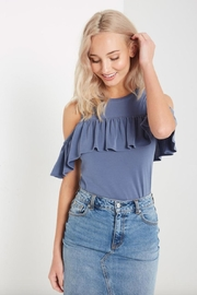 Soprano Ruffled Cold Shoulder - Side cropped