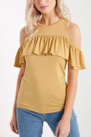 Soprano Ruffled Cold Shoulder - Front cropped