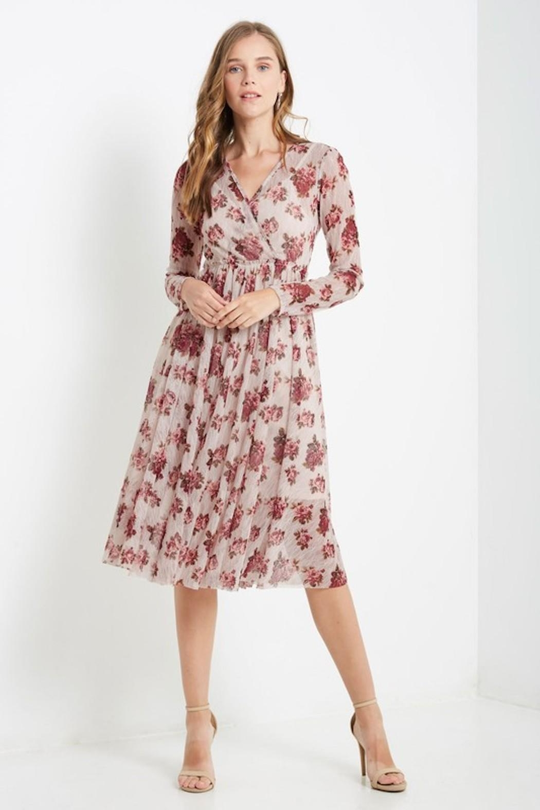 Soprano Vintage Roses Dress - Front Cropped Image