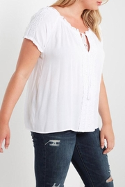 Soprano White Peasant Top - Side cropped