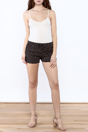 SoQut Black Floral Shorts - Front full body