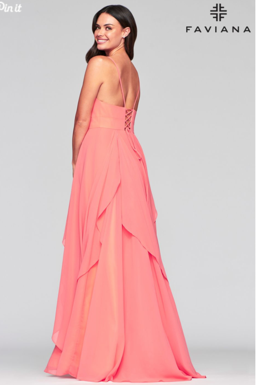 Faviana Sorbet Dreams Gown - Front Full Image