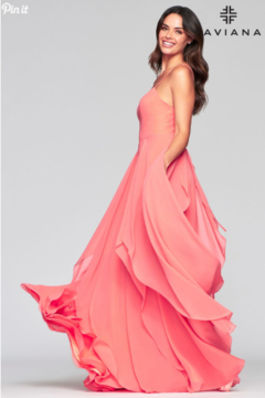 Faviana Flowy Evening Gown - Alternate List Image