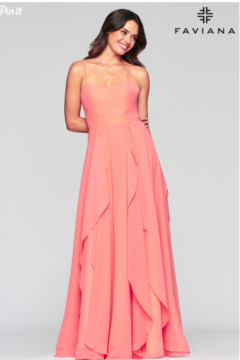Faviana Flowy Evening Gown - Product List Image