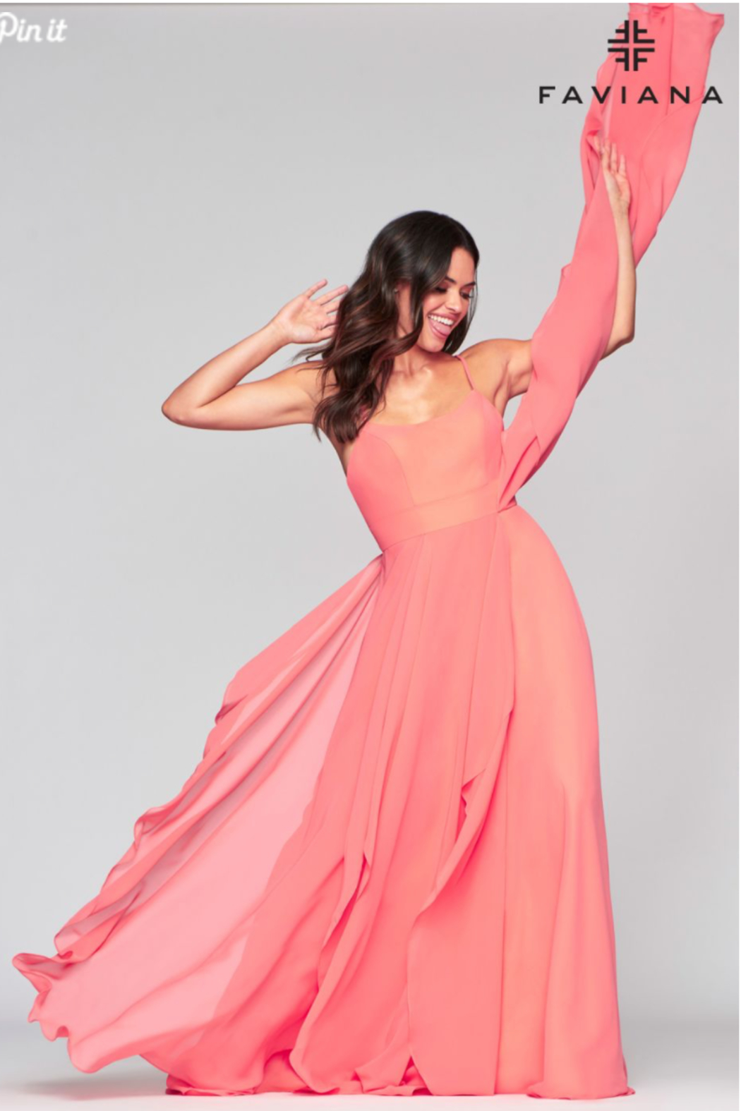 Faviana Sorbet Dreams Gown - Side Cropped Image