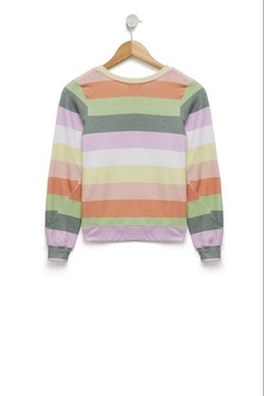 Wildfox Kids Sorbet Stripes Sweatshirt - Alternate List Image