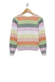 Wildfox Kids Sorbet Stripes Sweatshirt - Front cropped