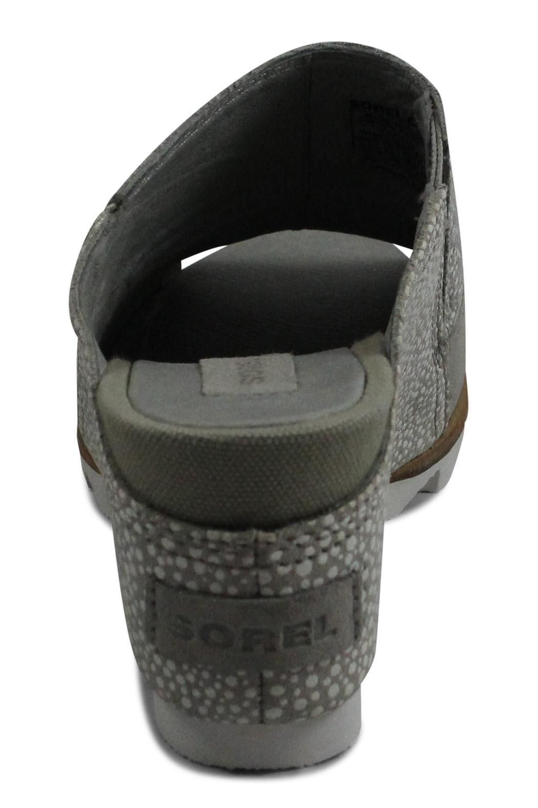 Sorel Grey Wedge Sandal - Side Cropped Image