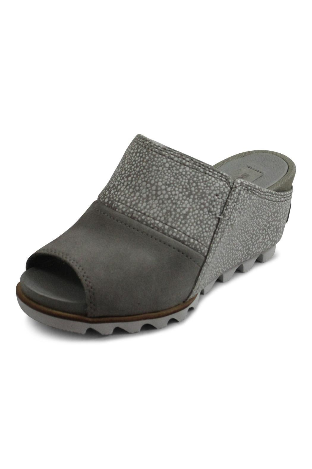 Sorel Grey Wedge Sandal - Front Full Image