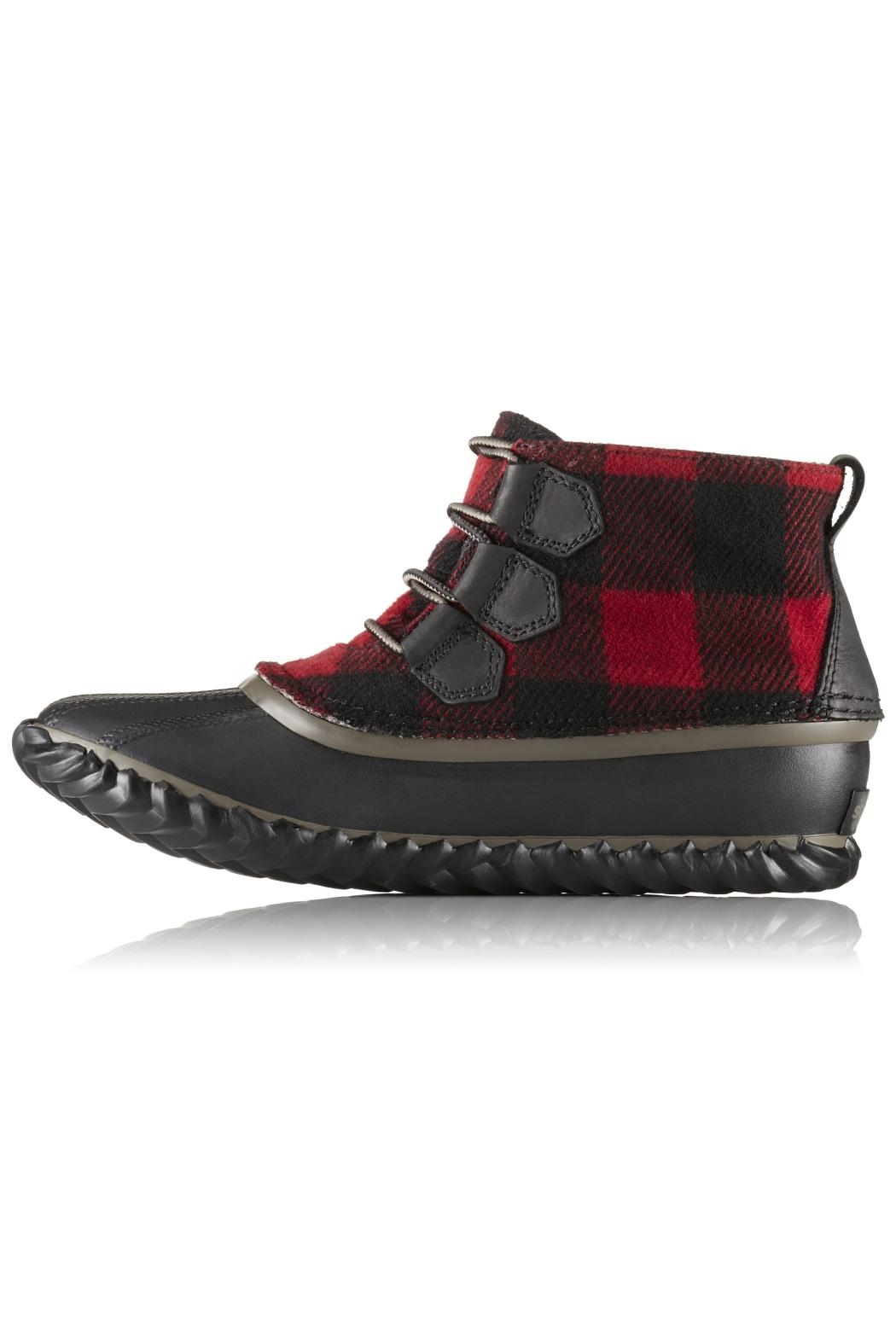 Sorel Plaid Winter Bootie - Front Cropped Image
