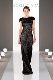 Sorella Vita Cap Sleeve Sequins Gown - Front cropped