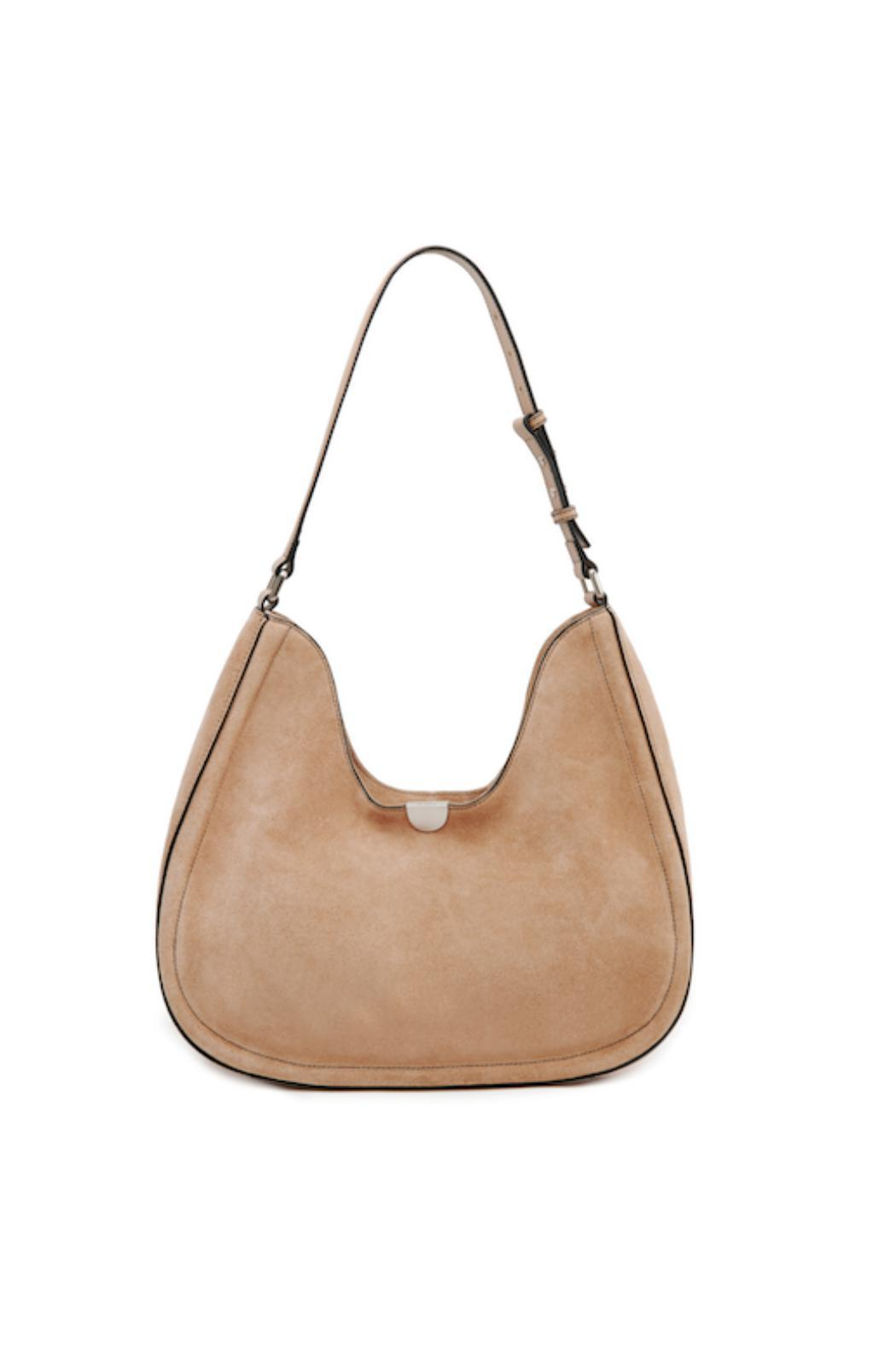 Sorial Suede Classic Hobo Bag - Front Cropped Image