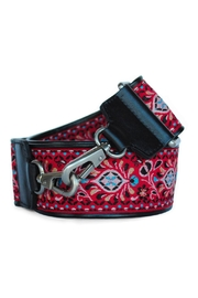 Sorial Red Floral Guitar-Strap - Product Mini Image
