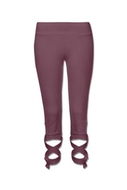 Soul Flower Wrap Organic Leggings - Front cropped