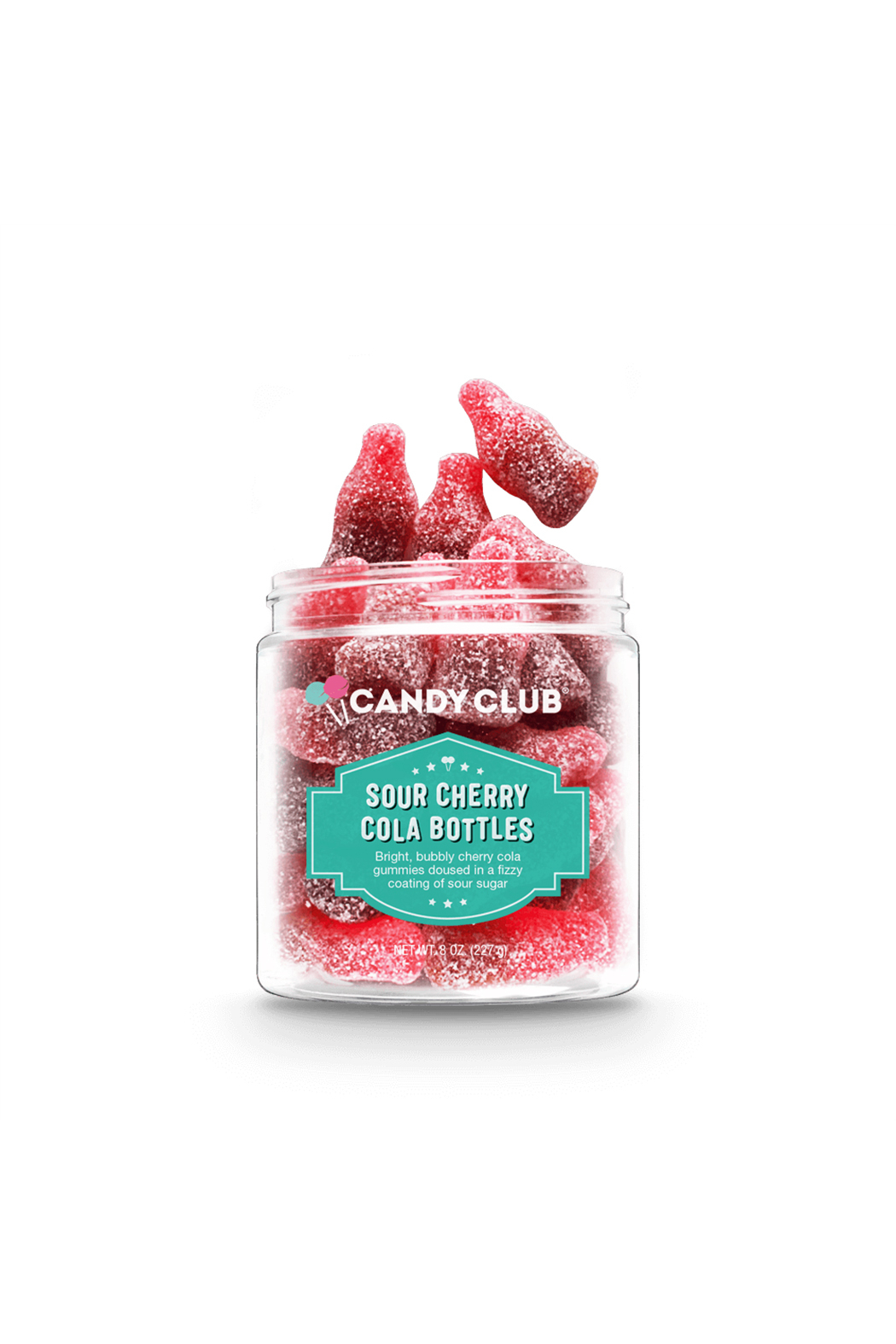 Candy Club Sour Cherry Cola Bottles 8oz - Main Image