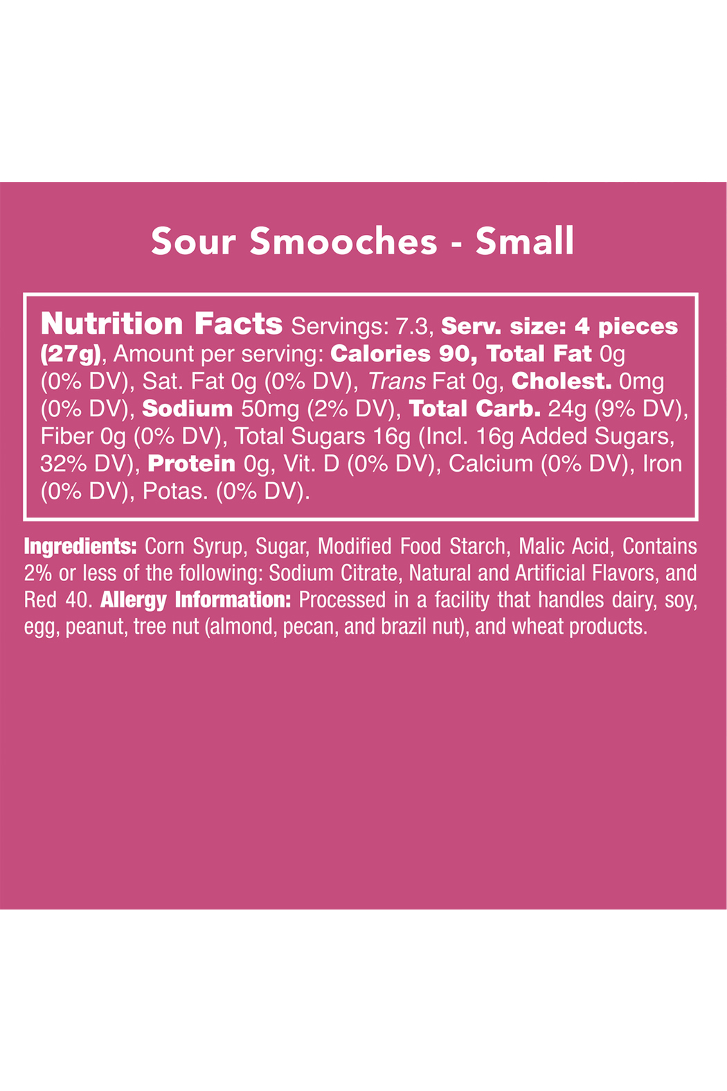 Candy Club Sour Smooches 7oz - Side Cropped Image