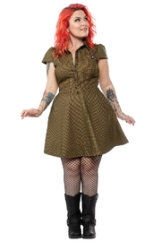 Sourpuss Check Button-Down Dress - Product Mini Image