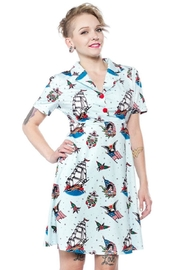 Sourpuss Rosie Sailor Dress - Front cropped
