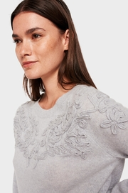 White + Warren Soutache Applique Crewneck - Product Mini Image