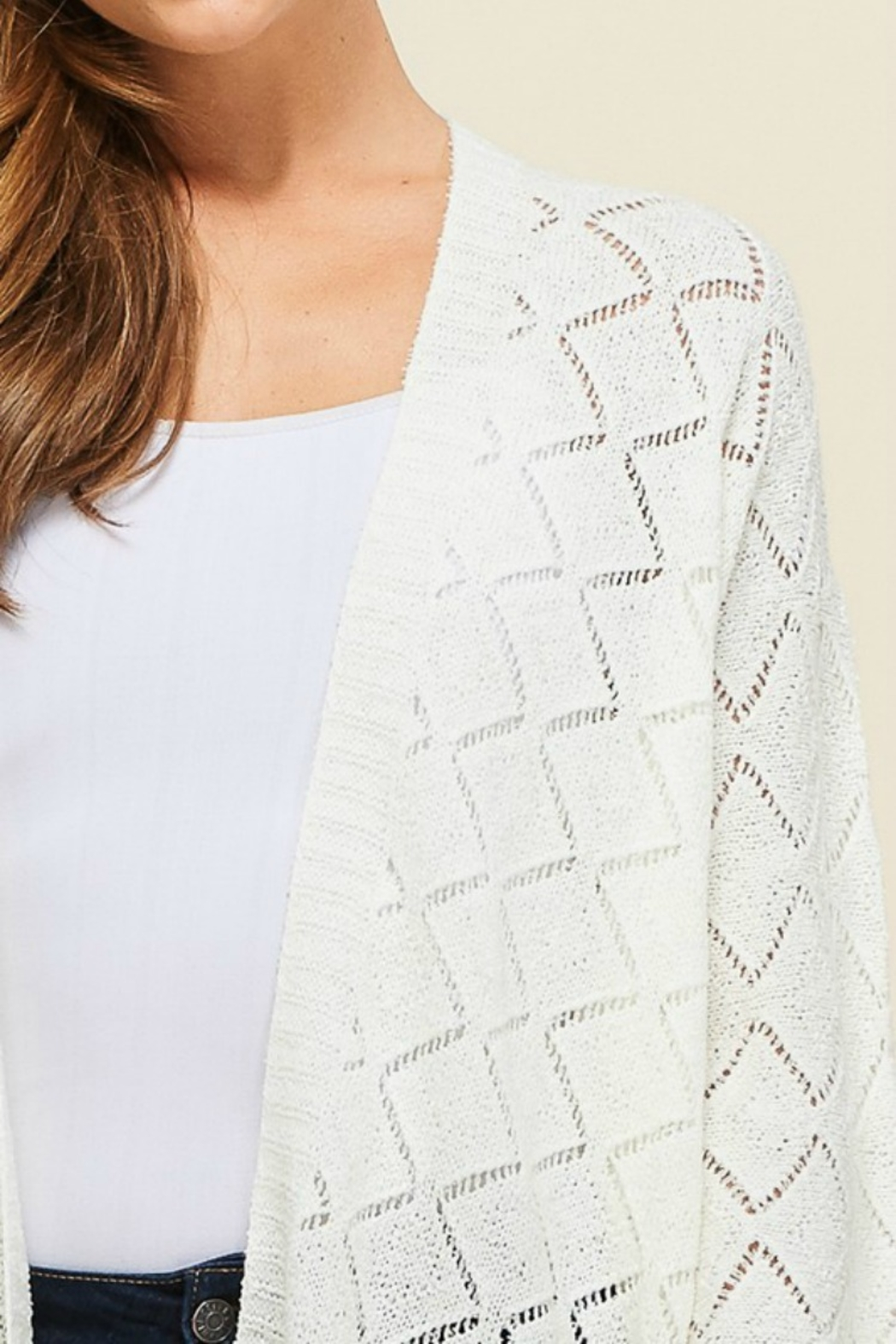 Staccato Southern Bell Blouse - Back Cropped Image