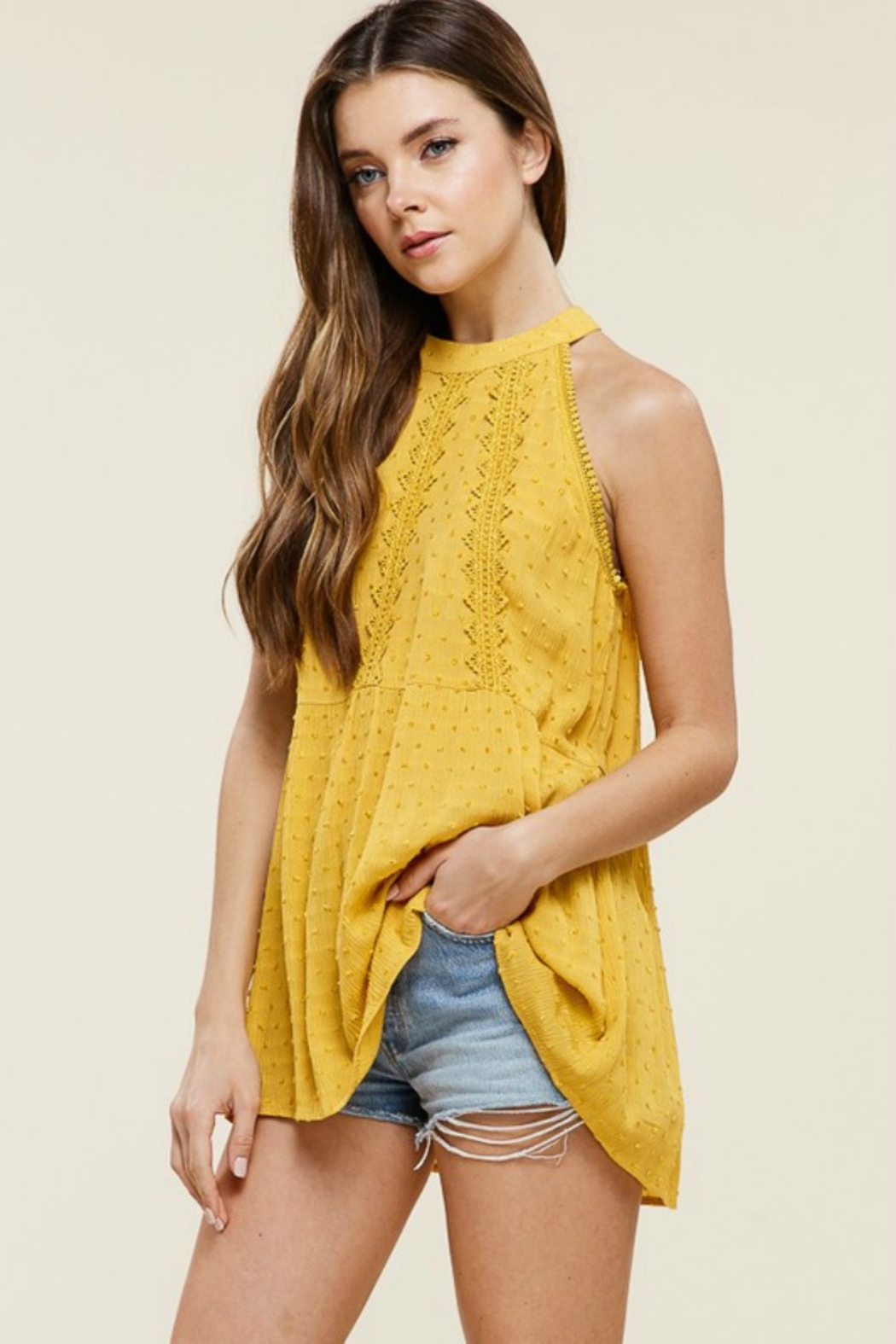 Staccato Southern Bell Blouse - Front Full Image