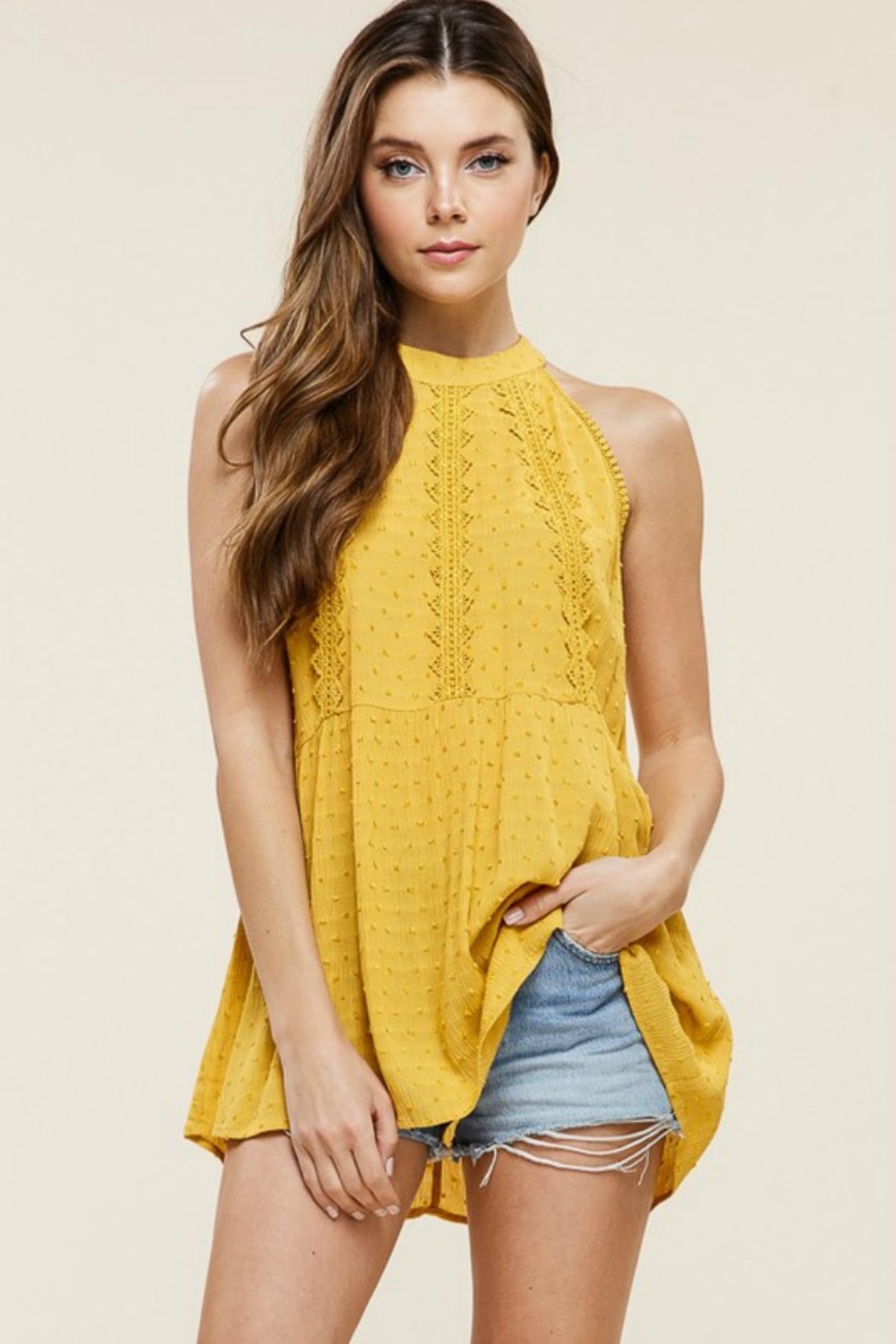 Staccato Southern Bell Blouse - Front Cropped Image
