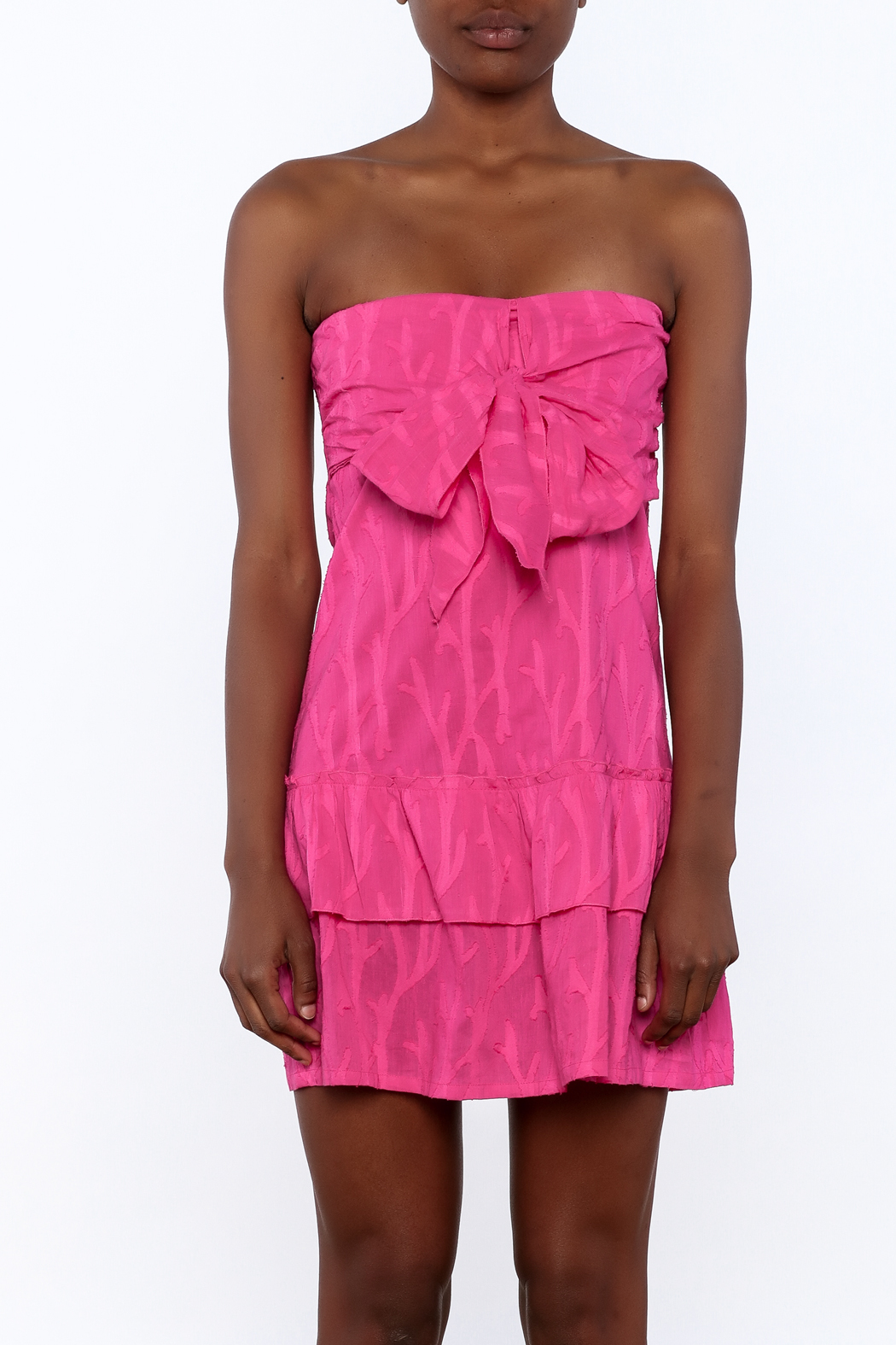 Southern Frock Pink Positano Dress - Side Cropped Image