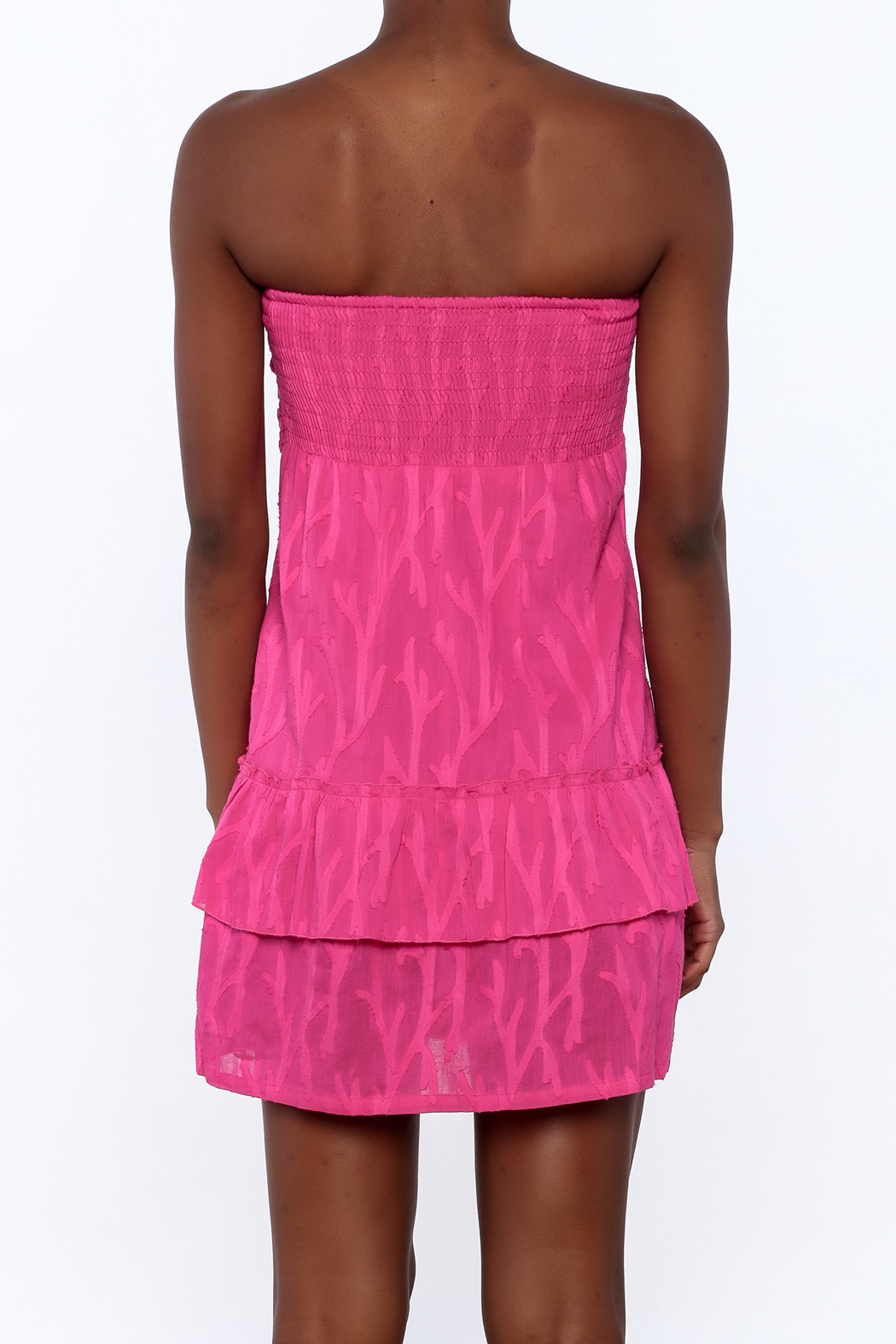 Southern Frock Pink Positano Dress - Back Cropped Image