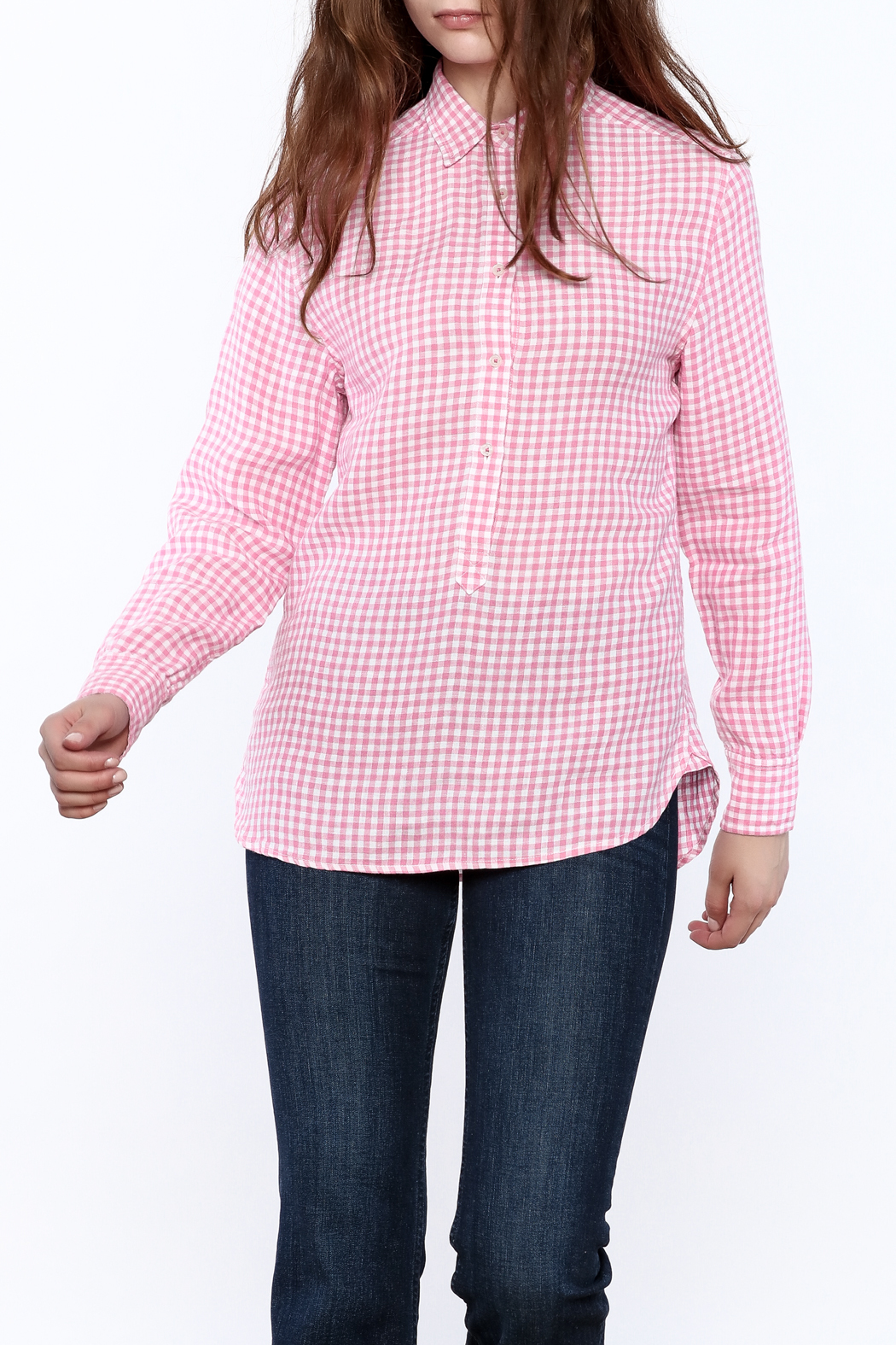 Southern Tide Gingham Button-Down Top - Main Image