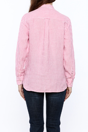 Southern Tide Gingham Button-Down Top - Back cropped