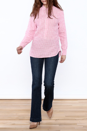 Southern Tide Gingham Button-Down Top - Front full body