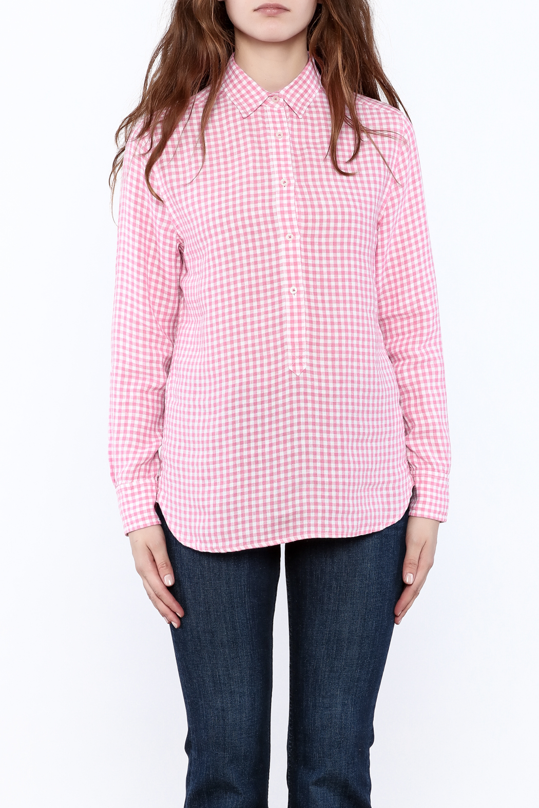 Southern Tide Gingham Button-Down Top - Side Cropped Image