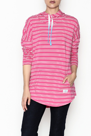Southern Tide Skipper Pink Stripe Hoodie - Front cropped