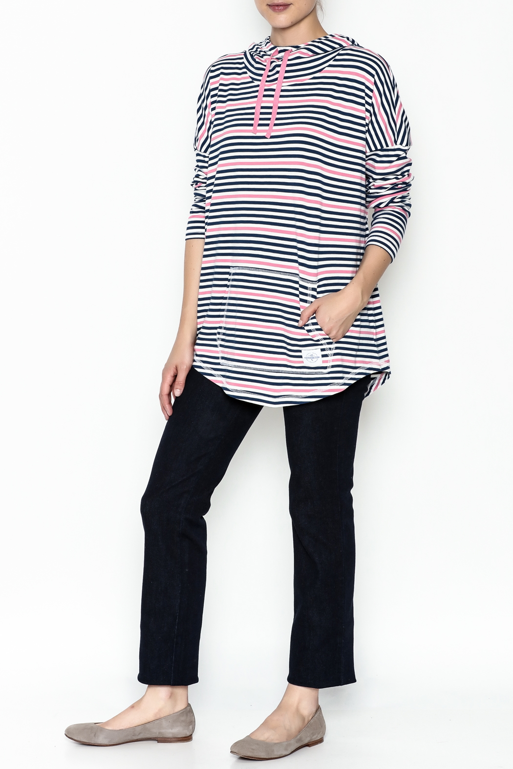 Southern Tide Stripe Skipper Hoodie - Side Cropped Image